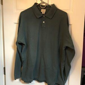 L.L. Bean long sleeve men's polo shirt